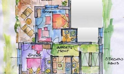 Grundriss Appartement Edelweiss